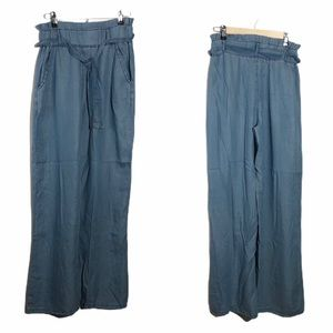 Thread & Supply Chambray Wide Leg Pants Paper Bag